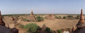 Temples in Bagan, Myanmar Panorama