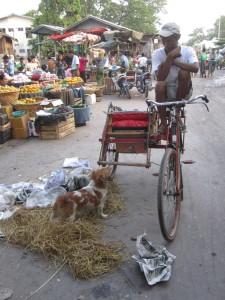 Myanmar-Burma-trishaw