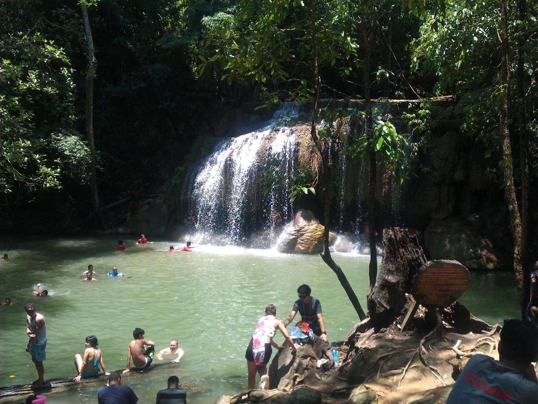 A Day at the Erawan Waterfalls - Kanchanaburi, Thailand